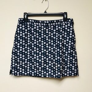 Liz Claiborne Golf Blue/White Polka Dot Skort